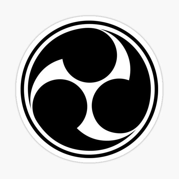 Mitsu Tomoe, Japón, Símbolo de la Trinidad Sintoísta, Triskele Pegatina