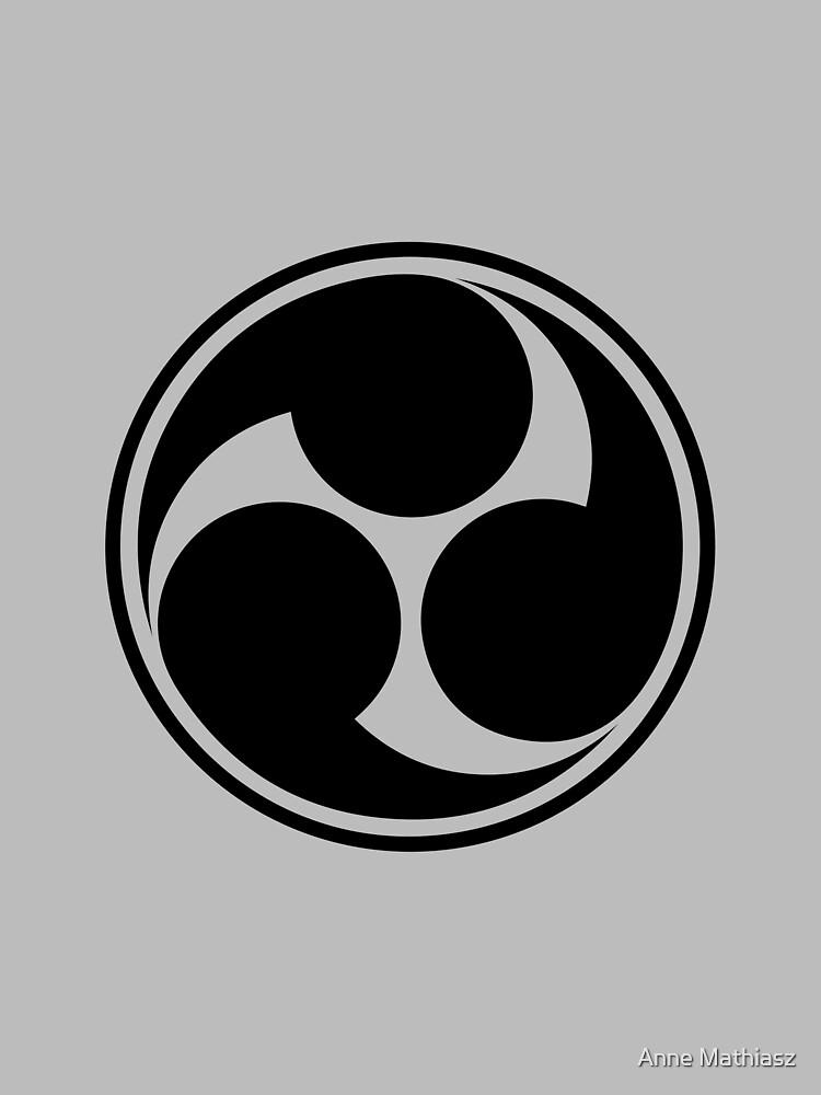 Mitsu Tomoe, Japan, Shinto Trinity Symbol, Triskele by nitty-gritty