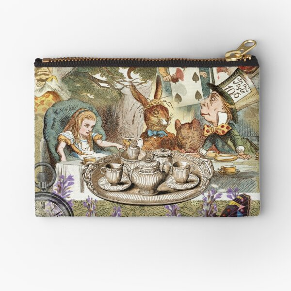Alice in Wonderland Tea Party  Zipper Pouch