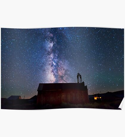 Fire Station and Milky Way Poster