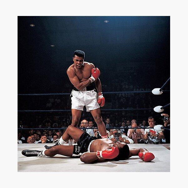 Muhammed Ali Knock Out Photographic Print