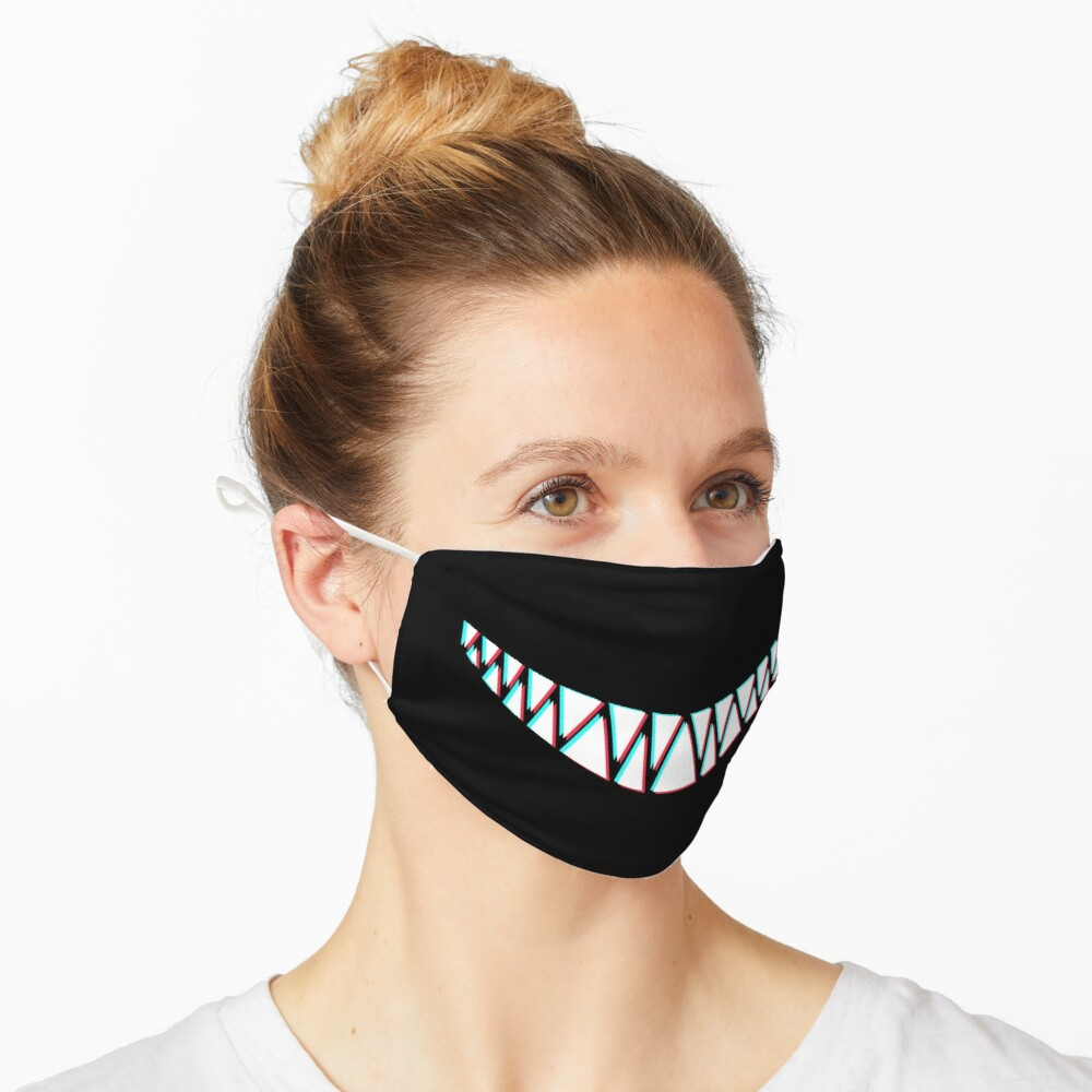 Beautiful Smile with Sharp Demon Teeth Mask