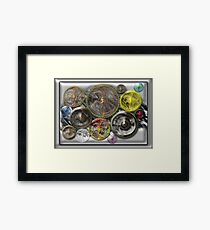 ©DA Fractal Power Wheel Process IA Framed Print