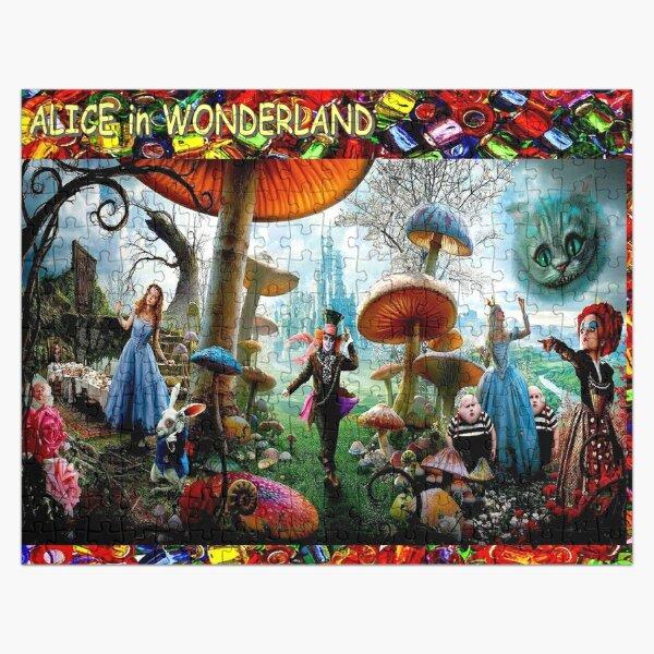ALICE IN WONDERLAND : Modern Advertising Print Jigsaw Puzzle