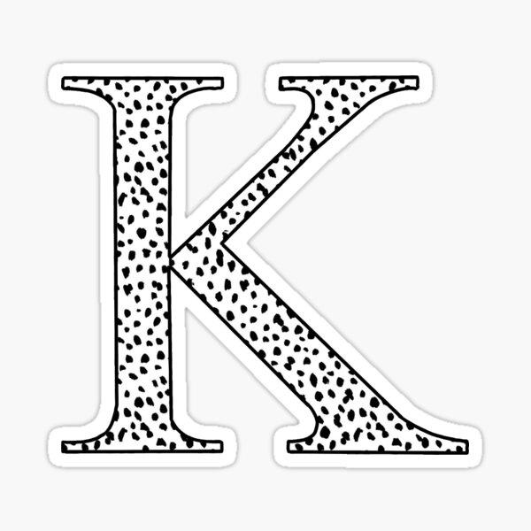 K inicial Pegatina