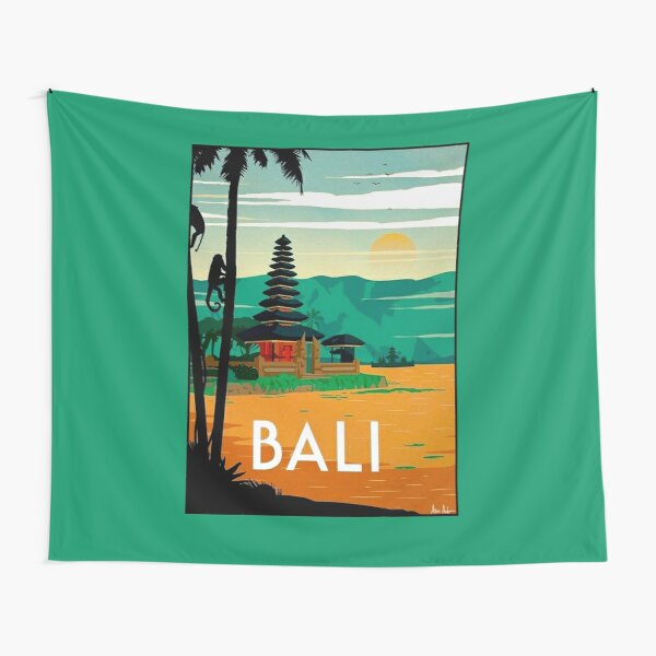 BALI : Vintage Travel and Tourism Advertising Print Tapestry