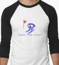Vintage Look Retro Arcade Horace Goes Skiing Men's Baseball ¾ T-Shirt