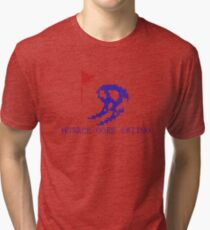 Vintage Look Retro Arcade Horace Goes Skiing Tri-blend T-Shirt