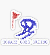 Vintage Look Retro Arcade Horace Goes Skiing Sticker