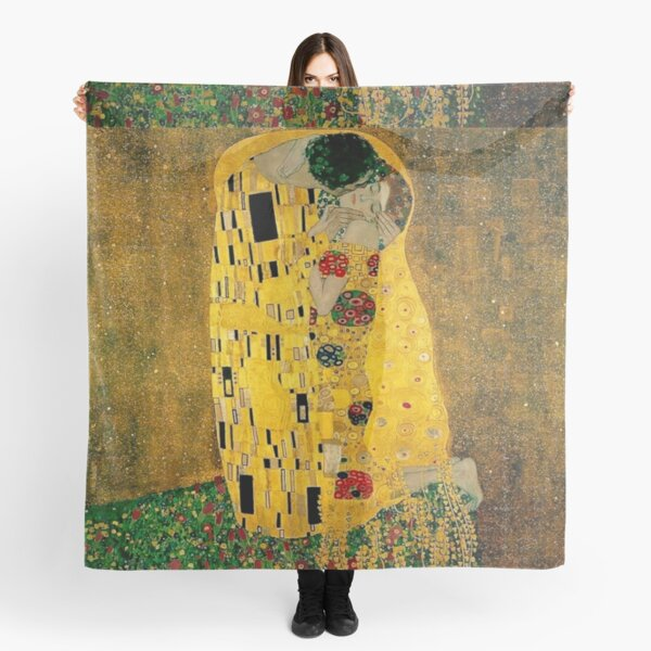 """Le baiser"" de Gustav Klimt   Liebespaar - Les amoureux Foulard"