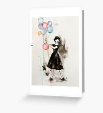 Audrey Hepburn Funny Face Greeting Card