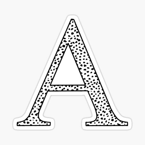 A Initial Sticker