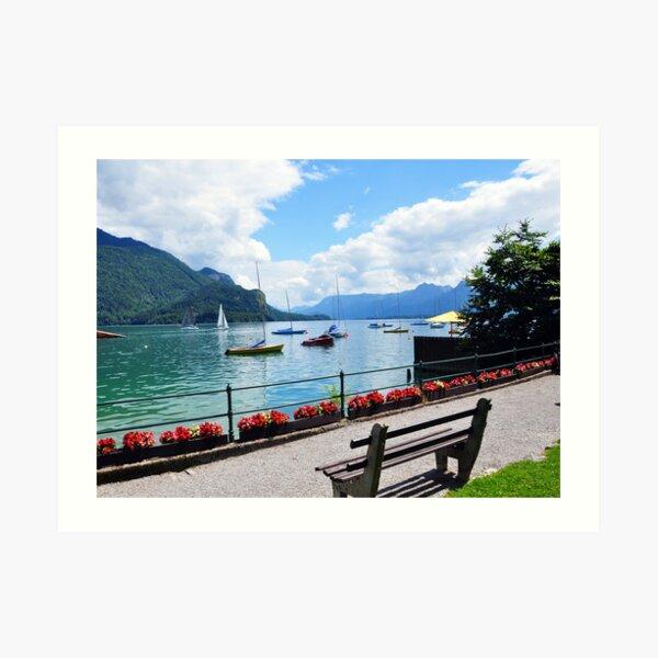 Lake Wolfgang, Austria Art Print