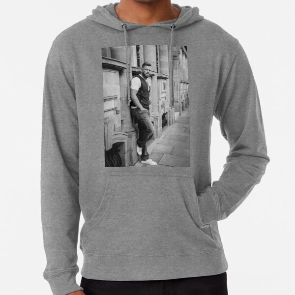 Paul Middleton Black and White Lightweight Hoodie
