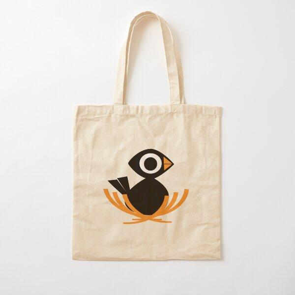 Black Bird Nest  Cotton Tote Bag