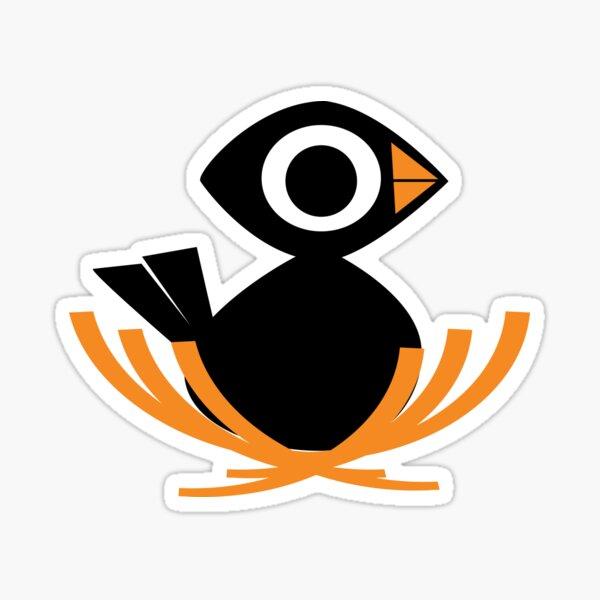 Black Bird Nest  Sticker