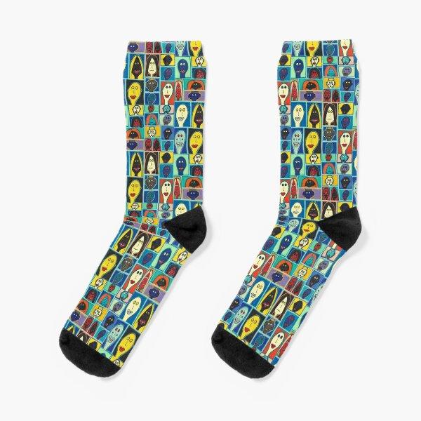 A Collection of Odd Folk Socks