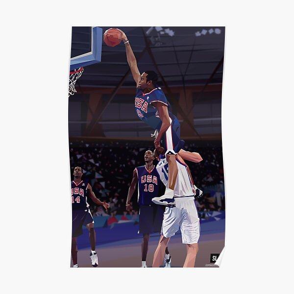 Vince Carter Dunk, team USA, best dunk ever Poster