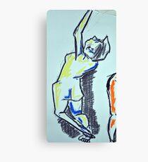 Nude female sketch #1 Canvas Print