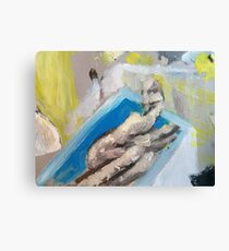 nude in bath Canvas Print
