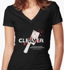 "The Sopranos presents ""Cleaver"" Women's Fitted V-Neck T-Shirt"
