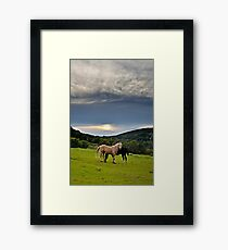 By the end of the day... Framed Print
