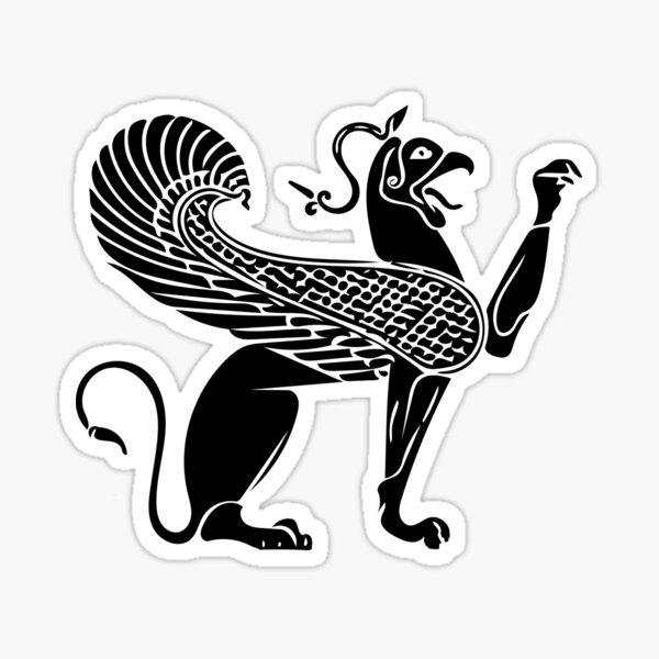 Gripping motif of a Greek-archaic vase Sticker