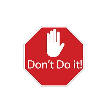 Stop! Don't Do it! iPhone case by Chris2490