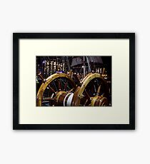 At the Helm Framed Print