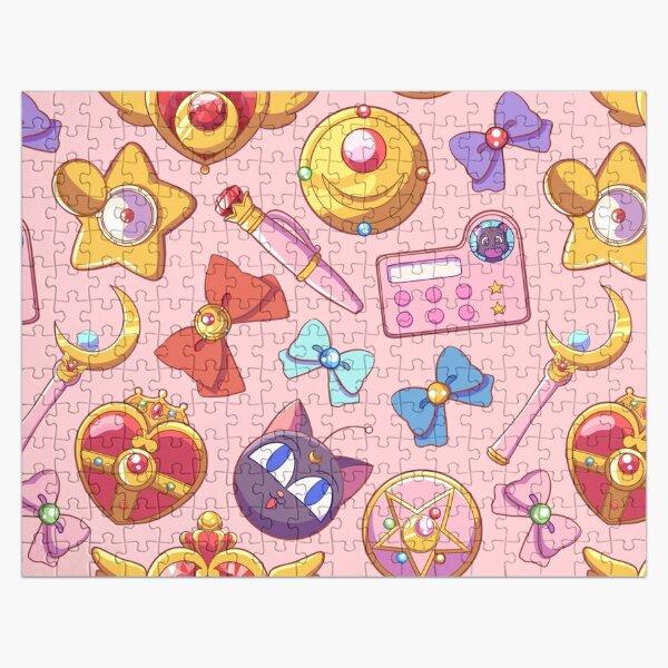 Sailor moon Pattern - Pink Version Jigsaw Puzzle