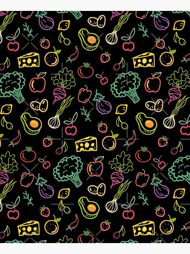 Vegetables and Fruits Pattern by kleynard