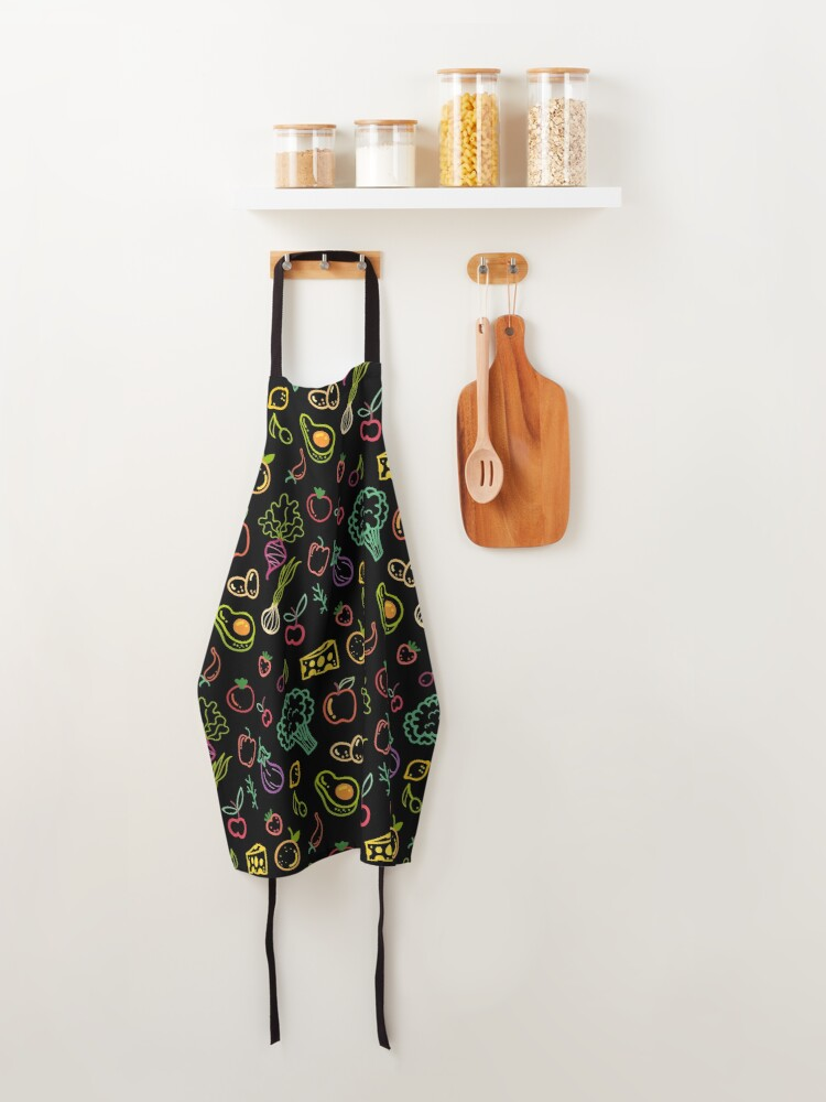 Alternate view of Vegetables and Fruits Pattern Apron