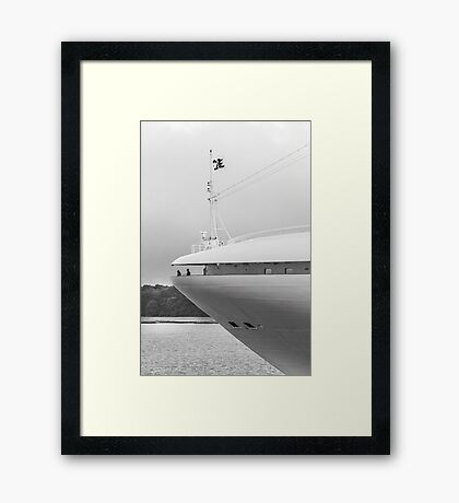 On the nose Framed Print