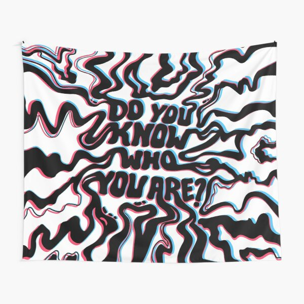 Do You Know Who You Are - Black & White 3D Tapestry