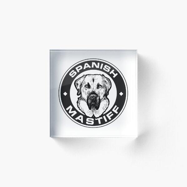 Spanish mastiff badge black and white Acrylic Block