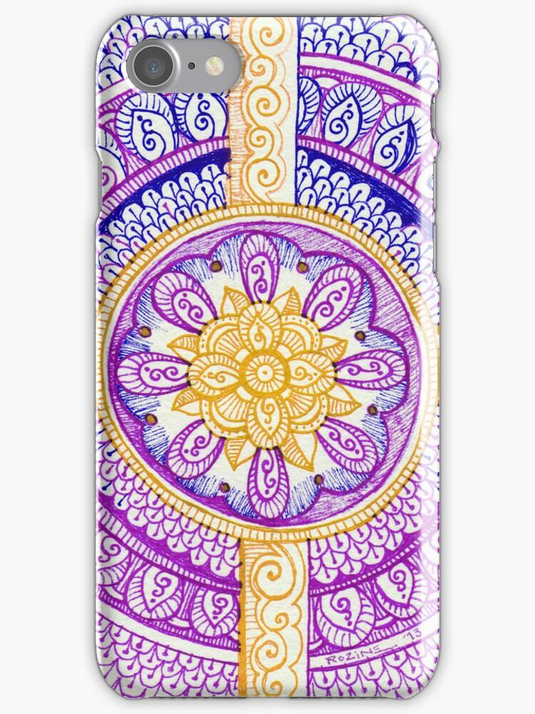 Purple and Gold Mandala Henna Tattoo Design by Rozine by rozine