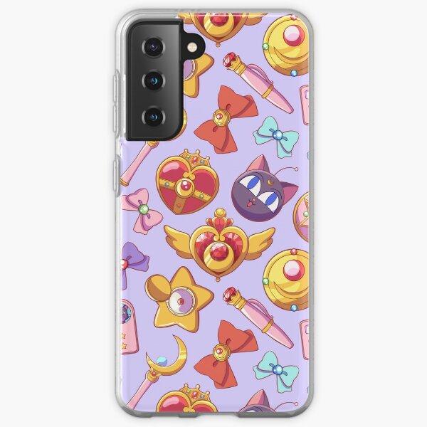 Sailor moon Pattern - Lilac Version Samsung Galaxy Soft Case