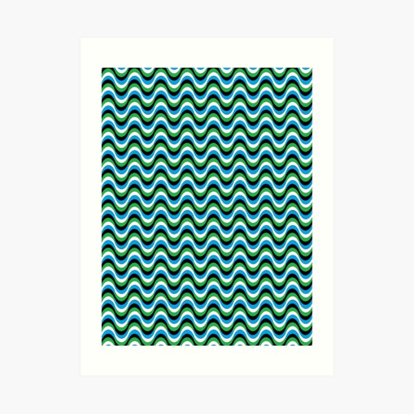 Psychedelic Waves Art Print