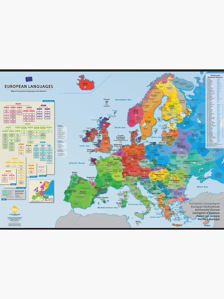 """«""""European languages"""" : Carte des langues d'Europe (en anglais)» par Multinatio"""