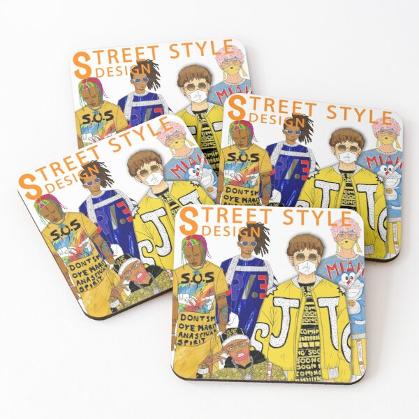 New Supreme Street Style Fashion Design  Coasters (Set of 4)