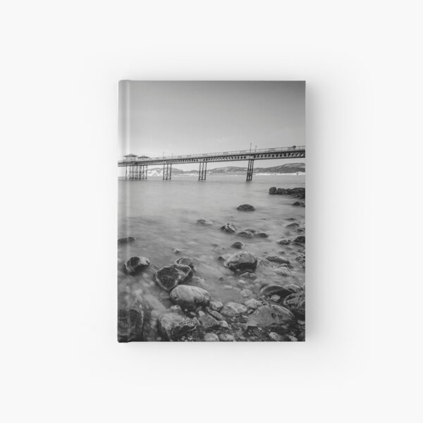 Llandudno Peir Bw Hardcover Journal