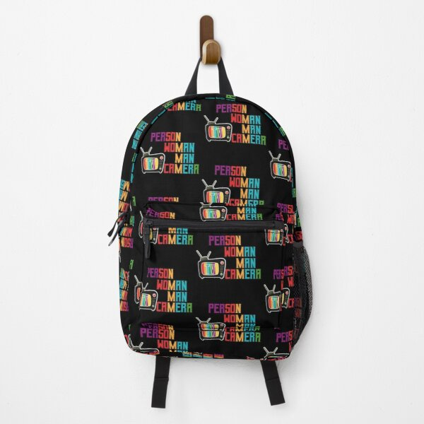 Person Woman Man Camera Tv Backpack