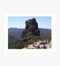 The Top of 'The High Tops' Warrumbungle Nat. Park, N.S.W. Art Print