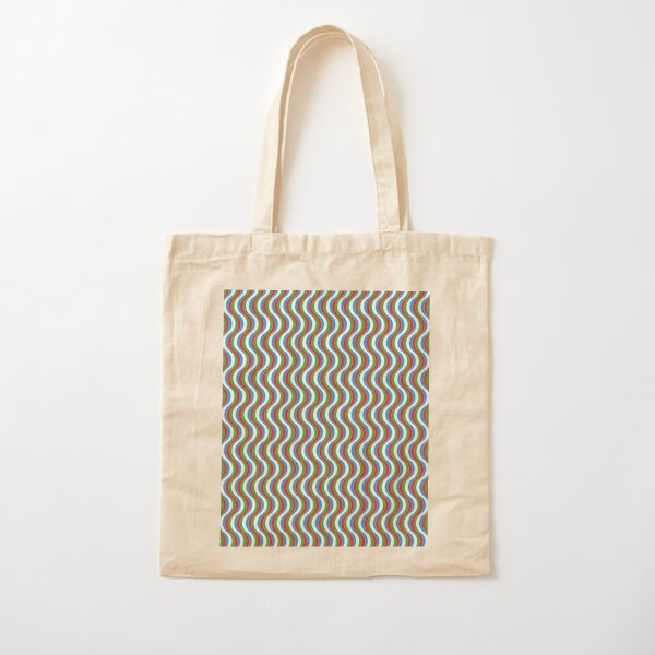 Psychedelic Waves Cotton Tote Bag