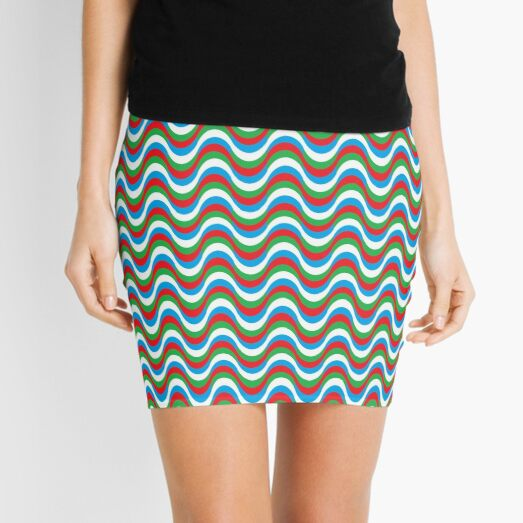 Psychedelic Waves Mini Skirt