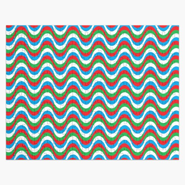 Psychedelic Waves Jigsaw Puzzle