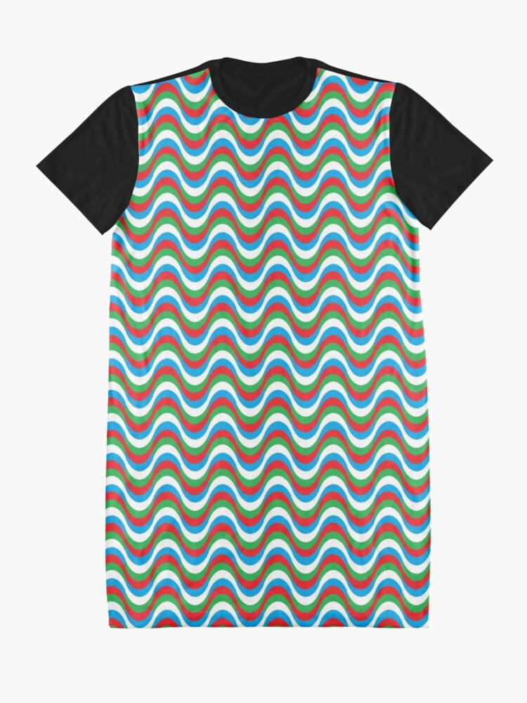 Alternate view of Psychedelic Waves Graphic T-Shirt Dress