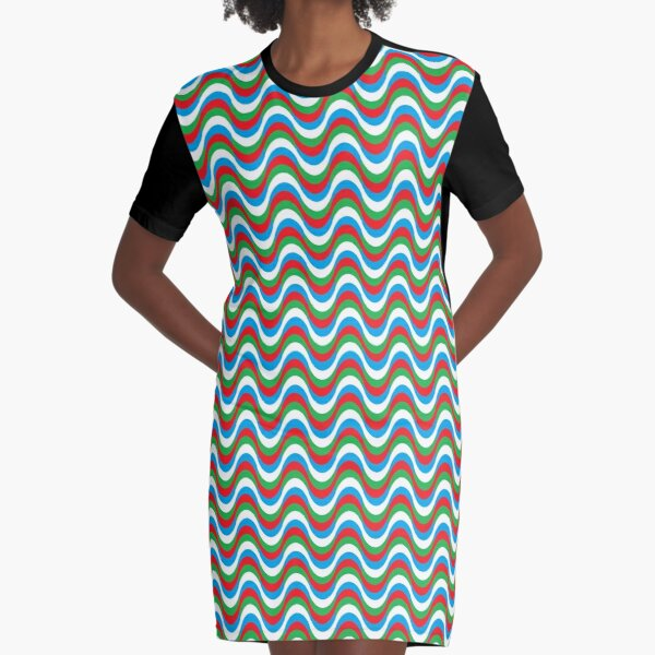 Psychedelic Waves Graphic T-Shirt Dress