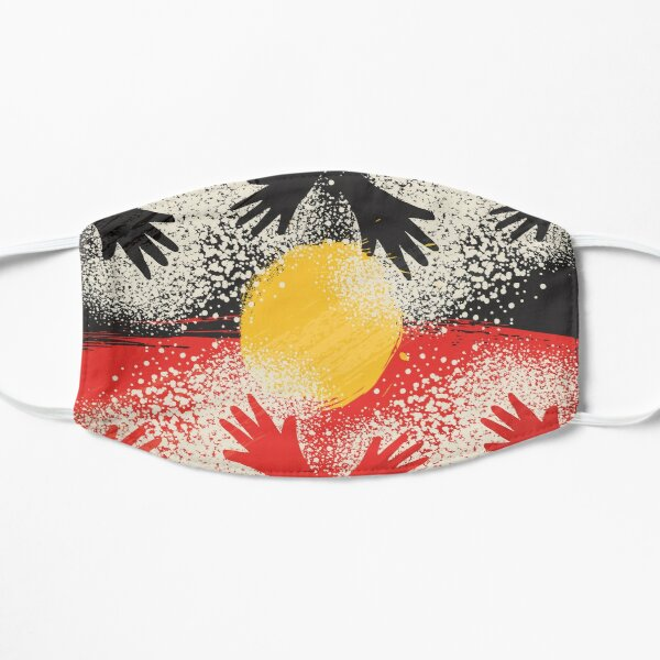 Awesome Aboriginal Art Flat Mask