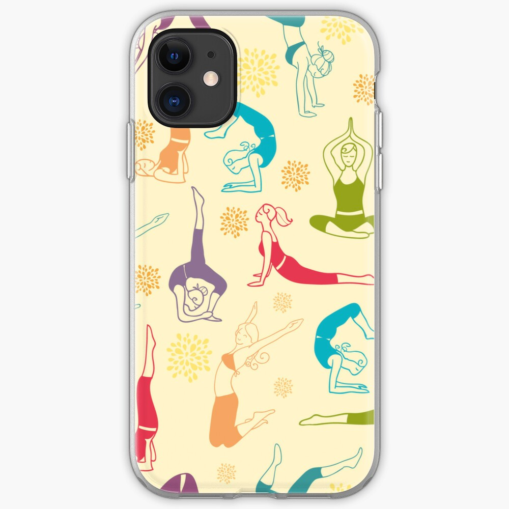 Fun workout pattern iPhone Case & Cover